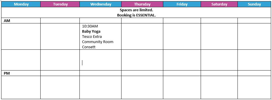 Emma Timetable